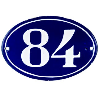 French Oval House Number 84
