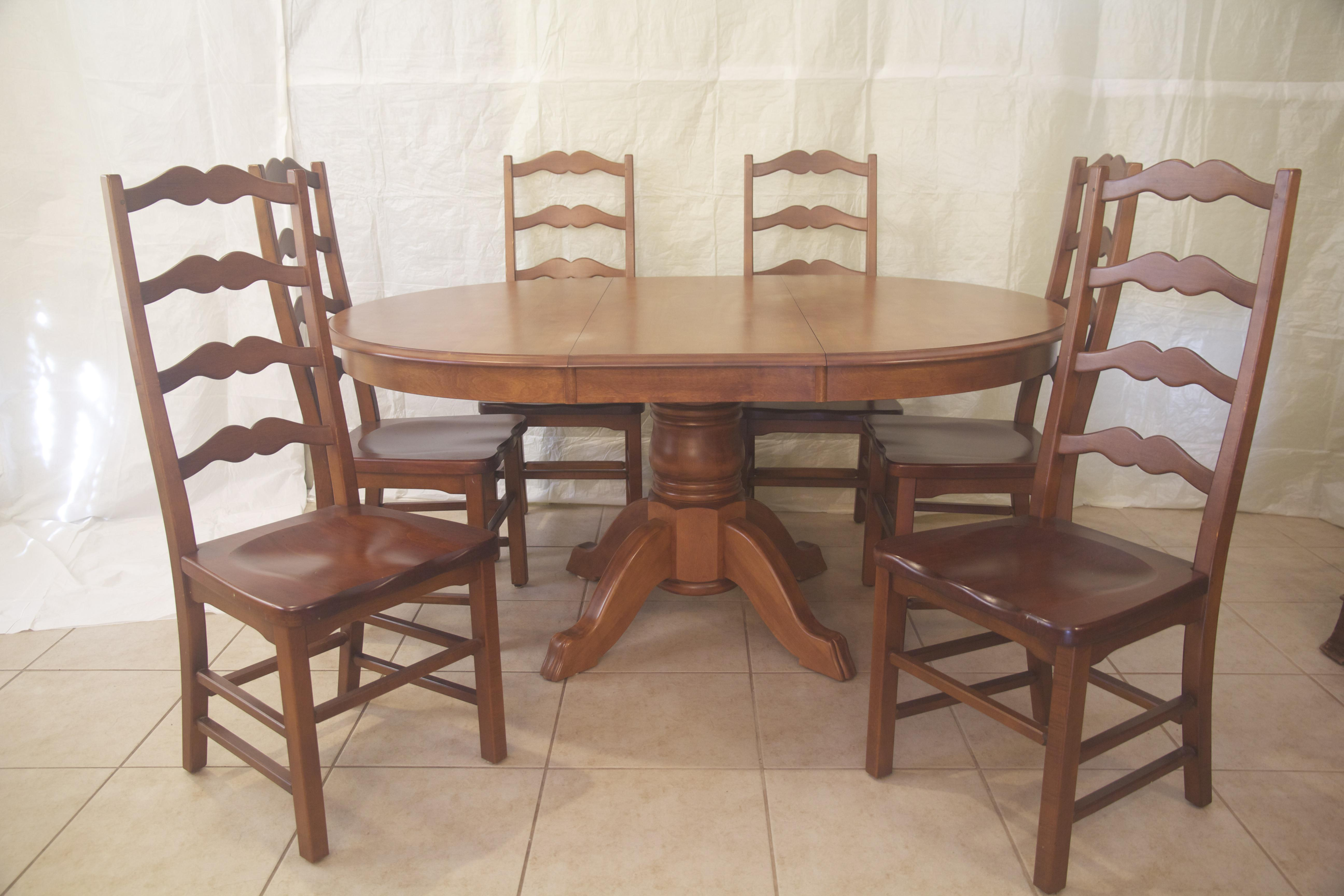 Dining Table (Bermex) U0026 Ladder Back Style Chairs   Image 2 Of 10