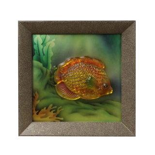 Liuli Glass 3D Under Water Tropical Fish Pattern Framed Wall Decor