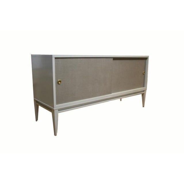 Customizable Bishop Lacquered Linen Door Console - Image 2 of 10