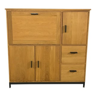 Room & Board White Oak Cabinet Desk