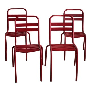 French Red Bistro Chair - Set of 4