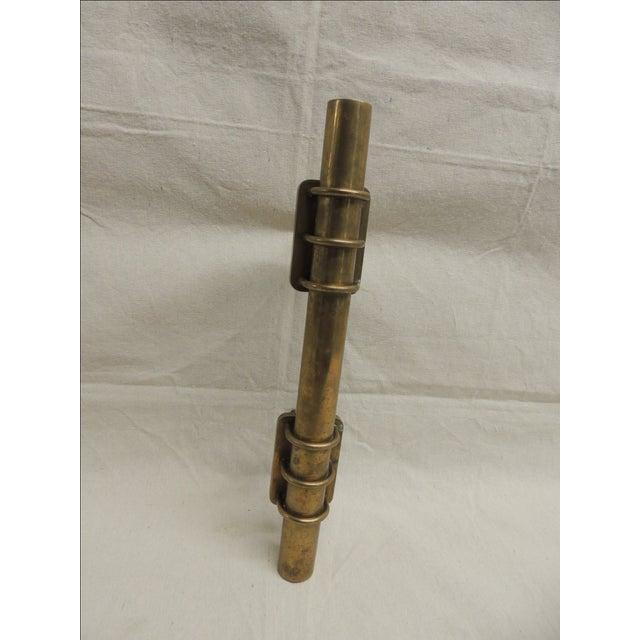 Vintage Oversize Brass Door Handle - Image 2 of 5
