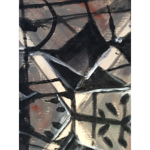 Mid-Century Modern Style Abstract Painting - Image 4 of 5