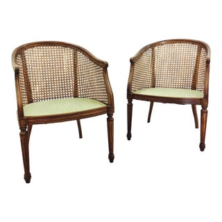 French Style Cane Chairs - a Pair