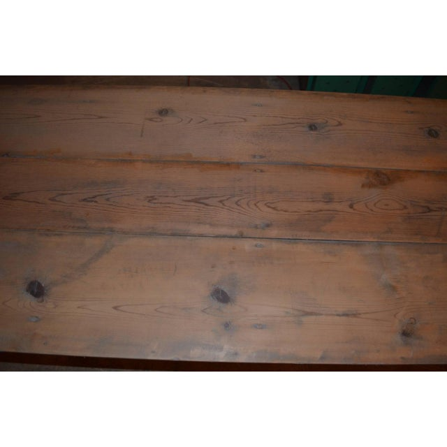 Antique Old Harvest Pine Table - Image 7 of 9