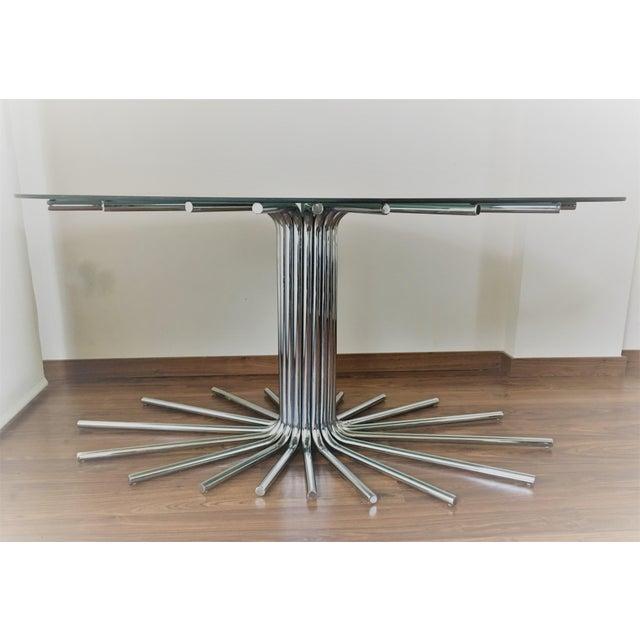 Mid-Century Chrome Starburst Dining Table - Image 3 of 8