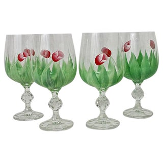 Crystal Goblets - Set of 4