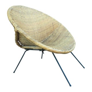 Eames Style Wicker Nesting Chair