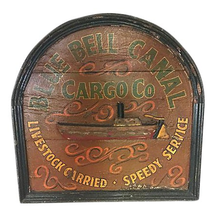 English Hand-Painted Advertising Sign - Image 1 of 4