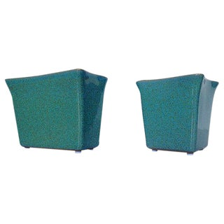 Glidden Turquoise Matrix Vases - A Pair