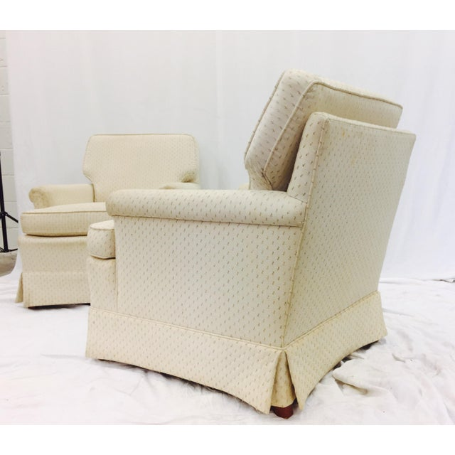 Vintage Henredon Club Chairs - a Pair - Image 5 of 6