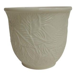 Vintage White Porcelain Cachepot