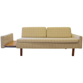 Mid-Century Loveseat with Retractable Side Table