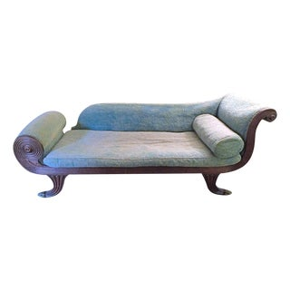 Antique Regency Recamier-Fainting Chaise, C. 1830