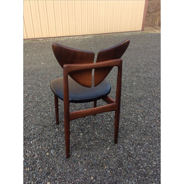 Ostervig Teak Leather Butterfly Chairs - Set of 5 - Image 7 of 9