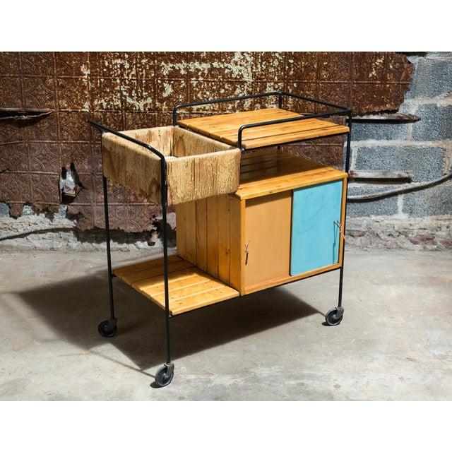 Vintage Arthur Umanoff Rolling Bar Cart - Image 2 of 11