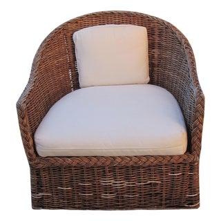 Outdoor Beach Cottage Wicker Chair