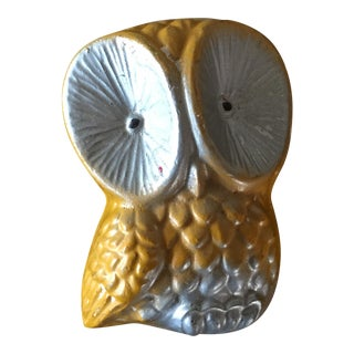 Plaster Owl Wall Hanging
