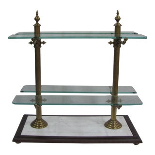 French Marble, Brass and Glass Pastry Stand