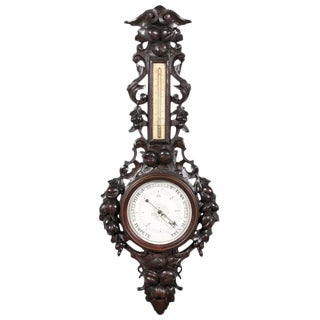 French Black Forest Hand-Carved Barometer from the Turn of the Century