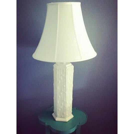Image of Blanc de Chine Faux Bamboo Lamp