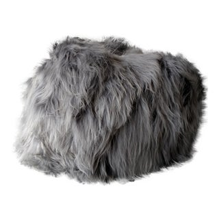 Moon Grey Sheepskin Bean Bag