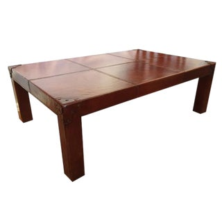Ralph Lauren Home Beekman Leather Cocktail Table