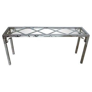 Chrome & Glass Console Table