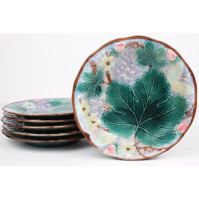 Image of 19th Century Majolica Dessert Plates - Set of 6