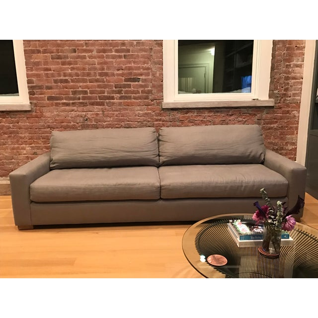 restoration hardware maxwell sofa chairish