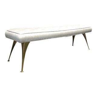 Jonathan Adler Mid-Century Modern Style Bench with Brass Legs