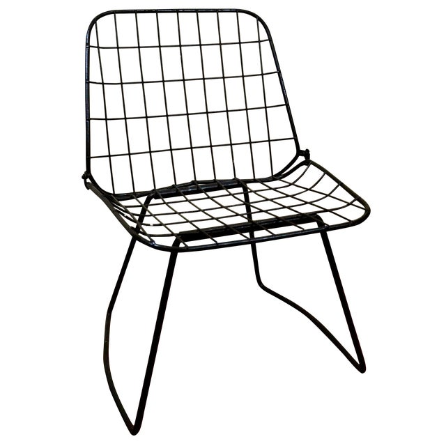 Vintage Danish Modern Wire Side Chair - Image 1 of 10
