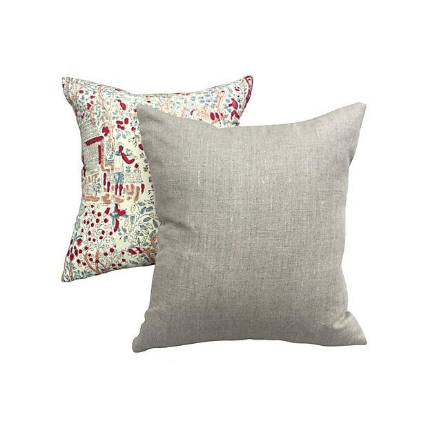 Bohemian 1970's Hand-Blocked Pillows - A Pair - Image 5 of 5
