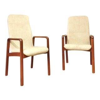 Mid-Century Modern Dyrlund Danish Lounge Chairs - A Pair