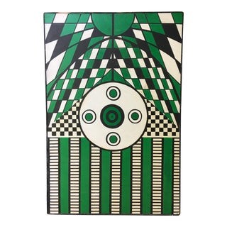 Abstract Geometric Painting in Green