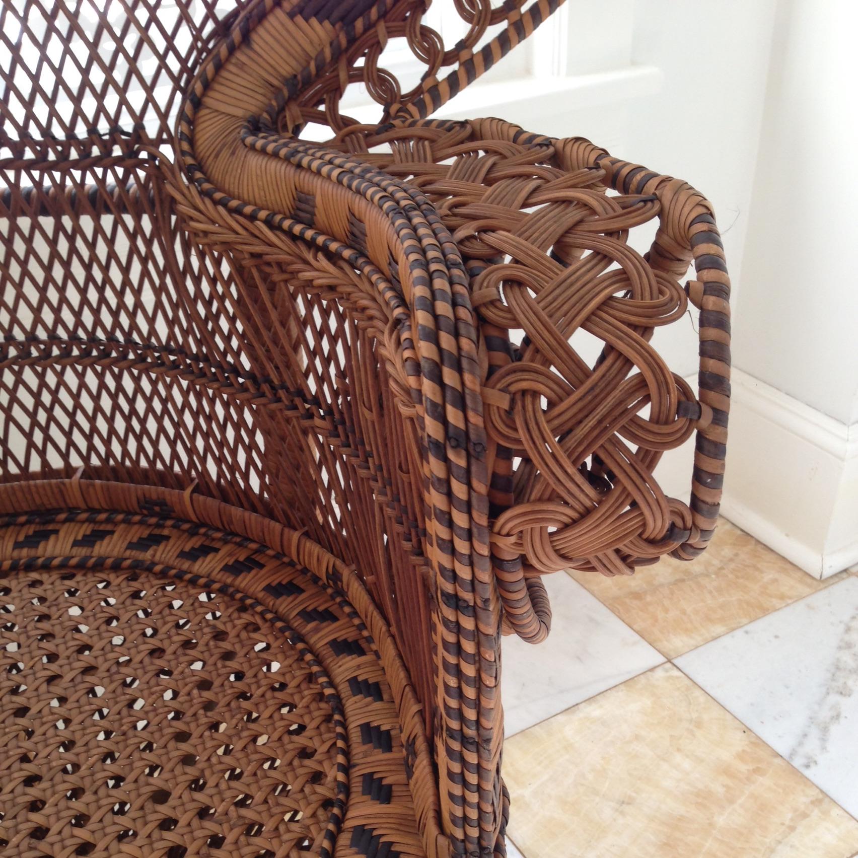 Peacock Fan Rattan Accent Chair
