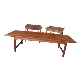 Folke Ohlsson for Tingstroms Teak 'Frisco' Coffee Table and End Tables - Set of 3