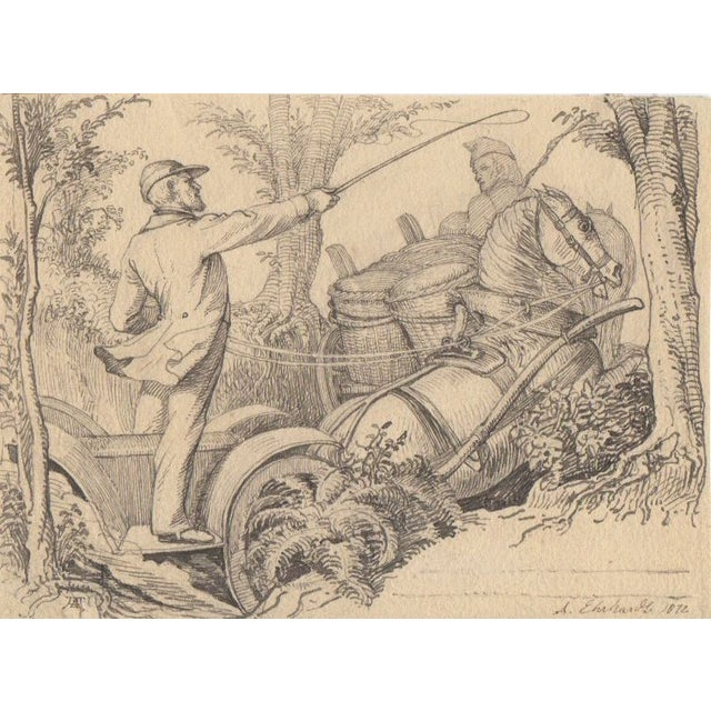 Image of Karl Ludwig Adolf Ehrhardt Original Drawing c.1872