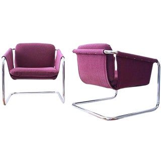 1980s Postmodern Cantilevered Chairs - A Pair