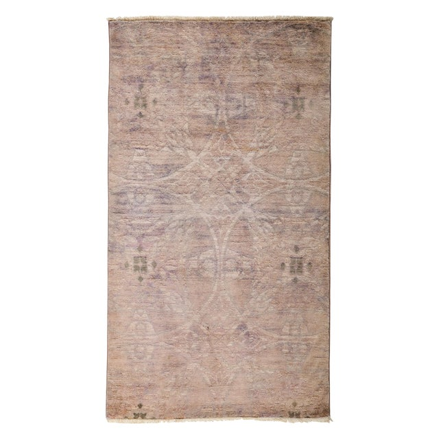 """Overdyed Hand Knotted Area Rug - 3' X 5'3"""" - Image 1 of 3"""
