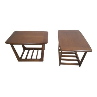Danish Style End Tables - A Pair