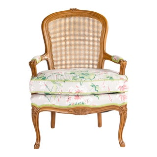 1960s Floral Bergere Chair