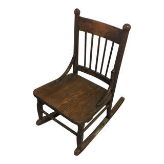 Antique Children's Oak Rocking Chair