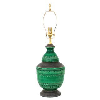 Bitossi Emerald Green Italian Pottery Lamp