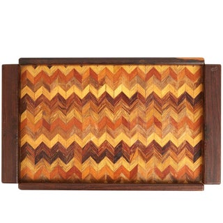 Don Shoemaker Cocobolo, Rosewood Inlaid Trays for Señal, circa 1970