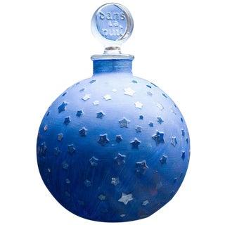 """Rare Huge Lalique """"Stars"""" Dans la Nuit Post-War Factice Perfume Bottle"""