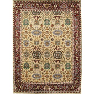 Pasargad N Y Mahal Design Hand-Knotted Rug - 10′ × 13′7″