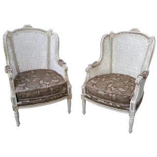 French Bergere Chairs - A Pair