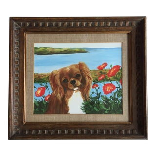 King Charles Spaniel With Poppies Print